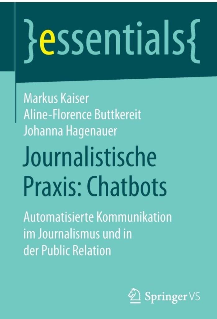 Cover des Buchs Chatbots von Markus Kaiser, Aline-Florence Buttkereit und Johanna Hagenauer.
